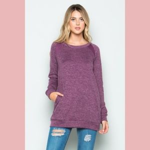 Tops - Brushed Knit Long Sleeve Top